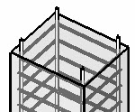 Concret column with reinforcement rebars 3D in RCsolver